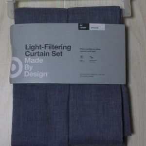 2 Panel Light Filtering Curtain Set - 42in X 63in